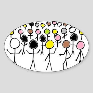 Equality Stick Figures Sticker