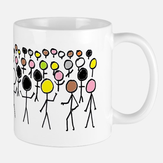 Equality Stick Figures Mugs