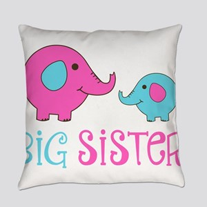 Big Sister Elephant Everyday Pillow