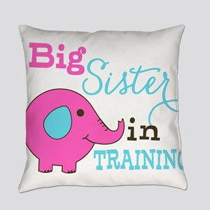 Big Sister in Training Elephant Everyday Pillow