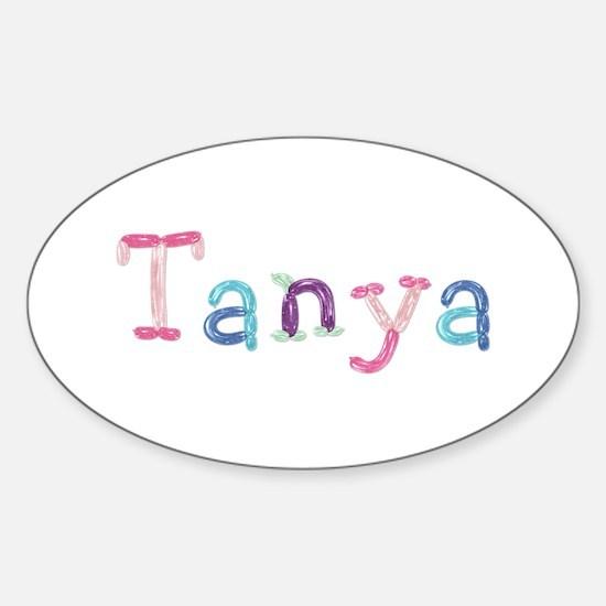 Tanya Princess Balloons Oval Decal