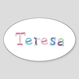 Teresa Princess Balloons Oval Sticker