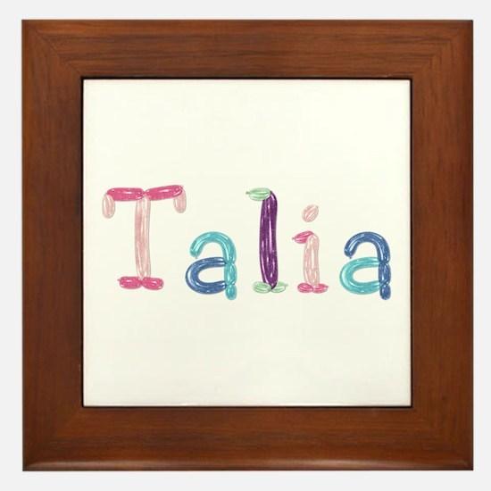 Talia Princess Balloons Framed Tile