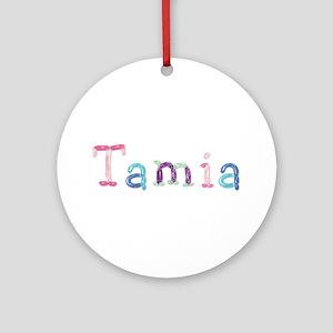 Tamia Princess Balloons Round Ornament