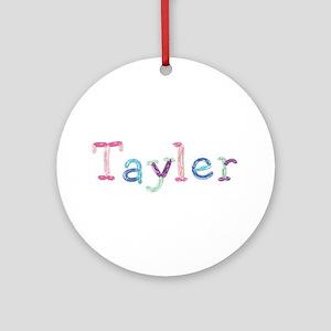 Tayler Princess Balloons Round Ornament