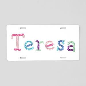 Teresa Princess Balloons Aluminum License Plate