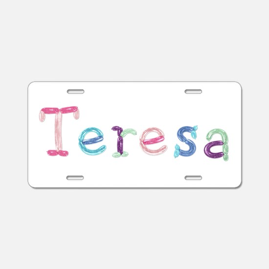 Teresa Princess Balloons Aluminum License Plate