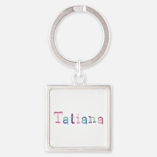 Tatiana Princess Balloons Square Keychain