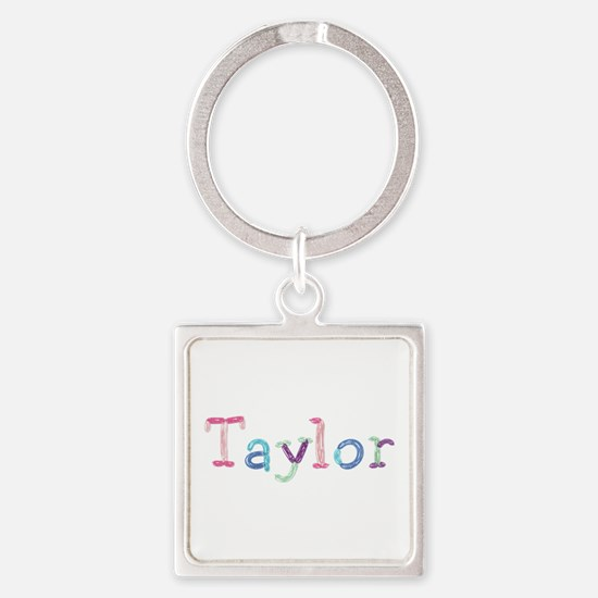 Taylor Princess Balloons Square Keychain