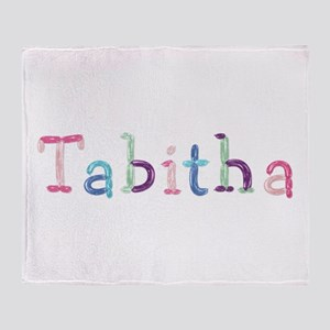 Tabitha Princess Balloons Throw Blanket