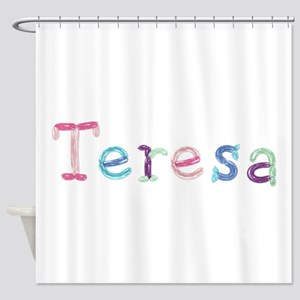 Teresa Princess Balloons Shower Curtain