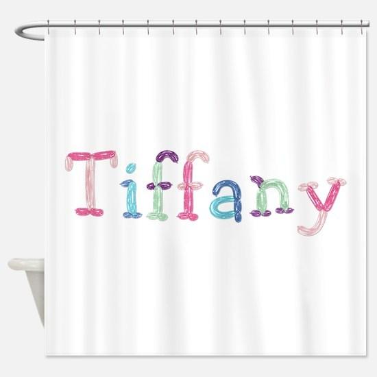Tiffany Princess Balloons Shower Curtain
