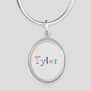 Tyler Princess Balloons Silver Oval Necklace