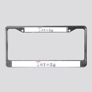 Teresa Princess Balloons License Plate Frame