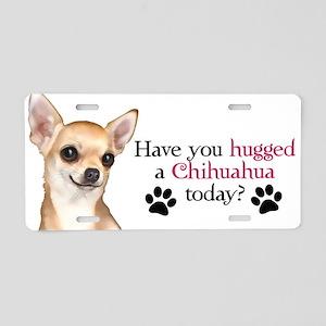 Chihuahua Hug Aluminum License Plate