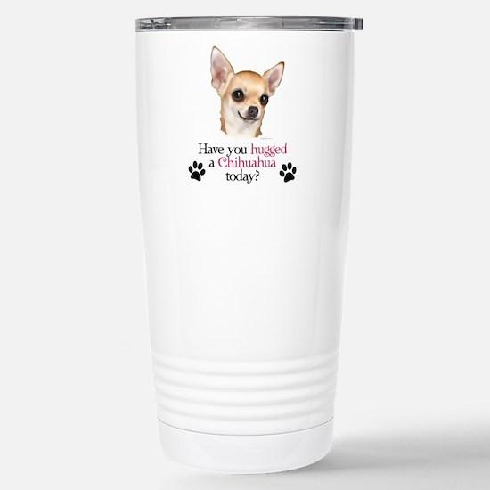 Chihuahua Hug Stainless Steel Travel Mug