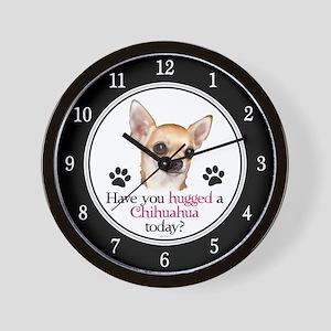 Chihuahua Hug Wall Clock