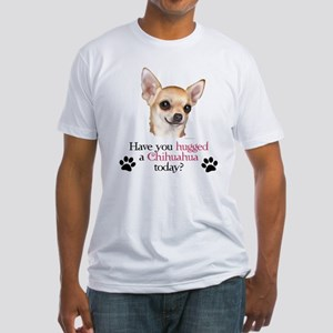 Chihuahua Hug Fitted T-Shirt