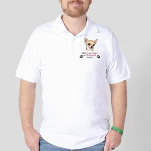 Chihuahua Hug Golf Shirt