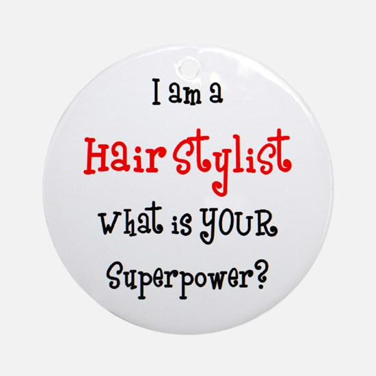hair stylist Ornament (Round)