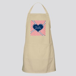 Coral Glasses Pattern With Heart Personalize Apron