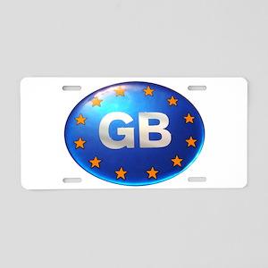 Great Britain GB Aluminum License Plate