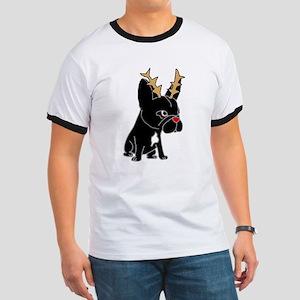 Funny French Bulldog Christmas Art T-Shirt