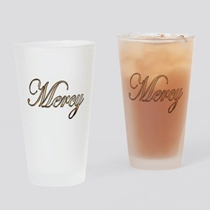 Gold Mercy Drinking Glass