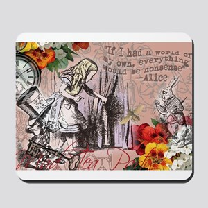 Alice in Wonderland Vintage Adventures Mousepad