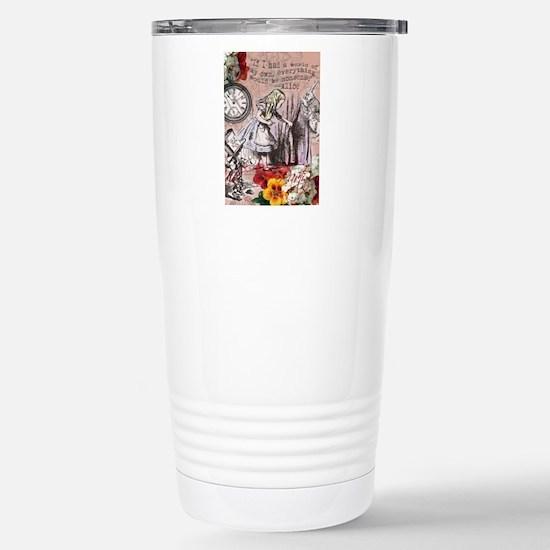 Alice in Wonderland Vintage Adventures Travel Mug