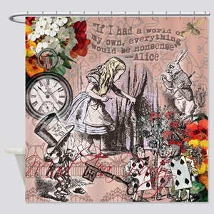 Alice in Wonderland Vintage Adventures Shower Curt