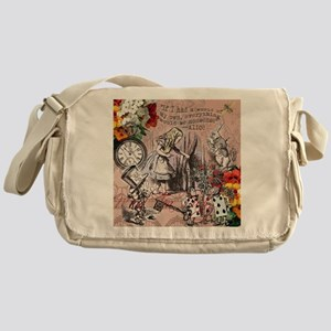 Alice in Wonderland Vintage Adventures Messenger B