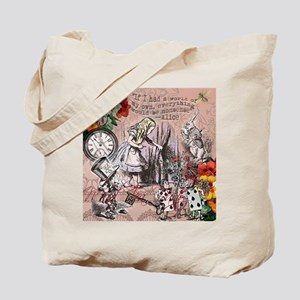 Alice in Wonderland Vintage Adventures Tote Bag