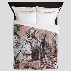 Alice in Wonderland Vintage Adventures Queen Duvet