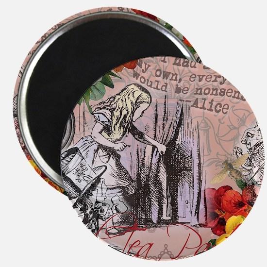Alice in Wonderland Vintage Adventures Magnets