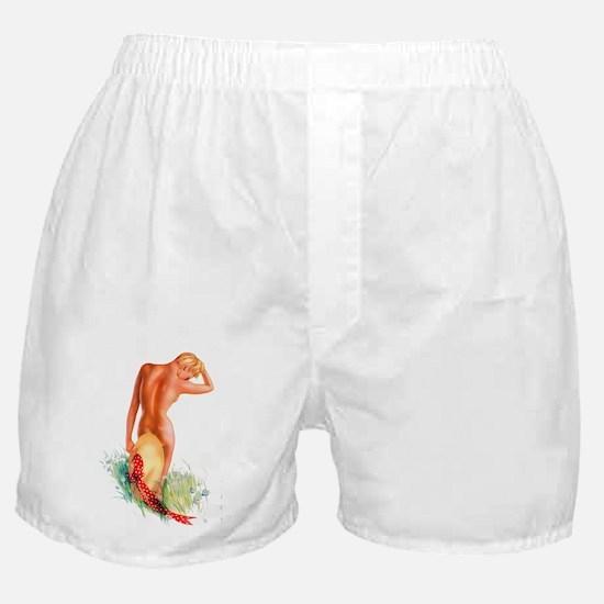 Garden Pinup Beauty Boxer Shorts