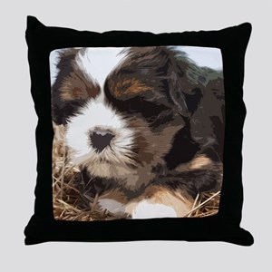 Shi tzu puppy Throw Pillow