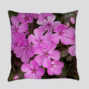 Pink Phlox Everyday Pillow