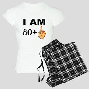 Middle Finger 81st Birthday Pajamas