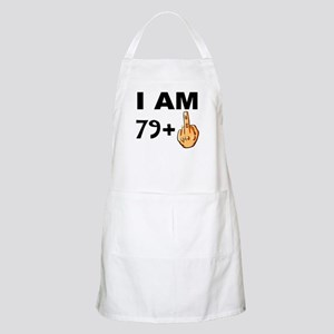 Middle Finger 80th Birthday Apron