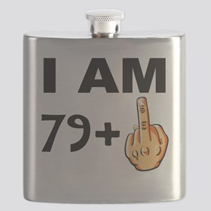 Middle Finger 80th Birthday Flask