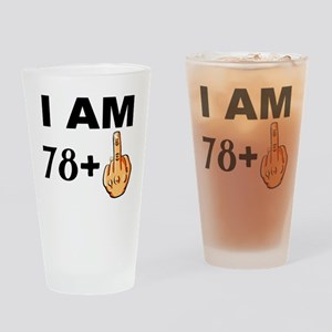 Middle Finger 79th Birthday Drinking Glass