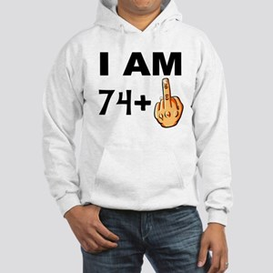 Middle Finger 75th Birthday Hoodie