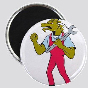Dragon Mechanic Spanner Fist Pump Isolated Magnets