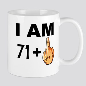 Middle Finger 72nd Birthday Mugs
