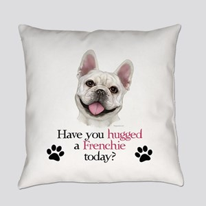Frenchie Hug Everyday Pillow
