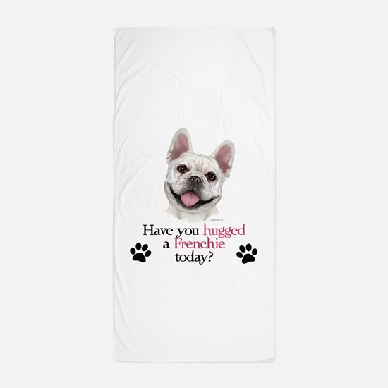 Frenchie Hug Beach Towel