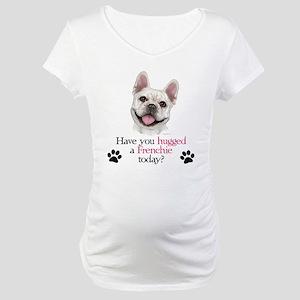 Frenchie Hug Maternity T-Shirt