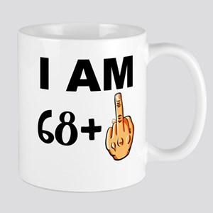 Middle Finger 69th Birthday Mugs