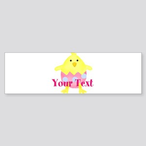 Personalizable Easter Chick Bumper Sticker